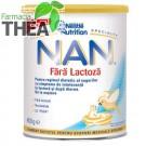 Lapte praf NAN fara lactoza Nestle 400g