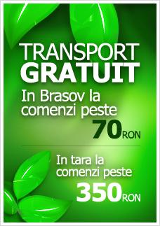 Transport gratuit in Brasov la comenzi peste 70RON